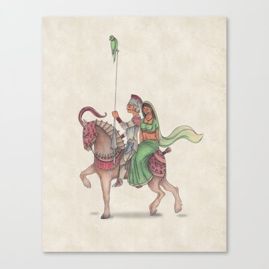 Indian Knight Canvas Print