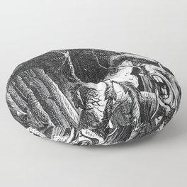 Jabberwocky Illustration from Alice in Wonderland Floor Pillow