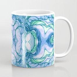 Light blue flowers mandala Coffee Mug