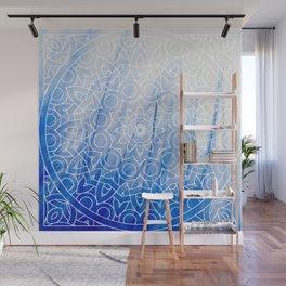 Mandala Feather Blue Wall Mural
