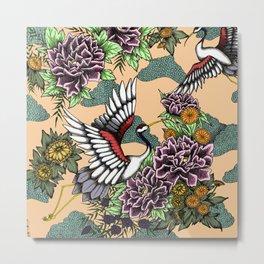Cranes (Pink) Metal Print