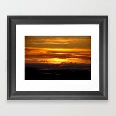 Sunset in Nemrut Framed Art Print
