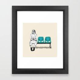 budgie wait Framed Art Print