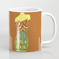 body Mugs featuring Body by Triple Six Illustration