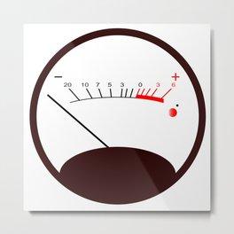 Round VU Meter No Signal Metal Print
