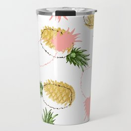 Pineapples & Pine Cones #society6 #decor #buyart Travel Mug
