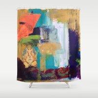 ganesh Shower Curtains featuring Ganesh by Prema Designs
