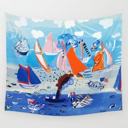 Regatta by Raoul Dufy Wall Tapestry