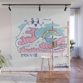 The Great Kawaii Wave Wall Mural