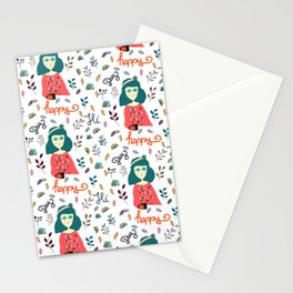 Happy Day Pattern Stationery Cards