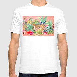 Leopard in Succulent Garden T-shirt