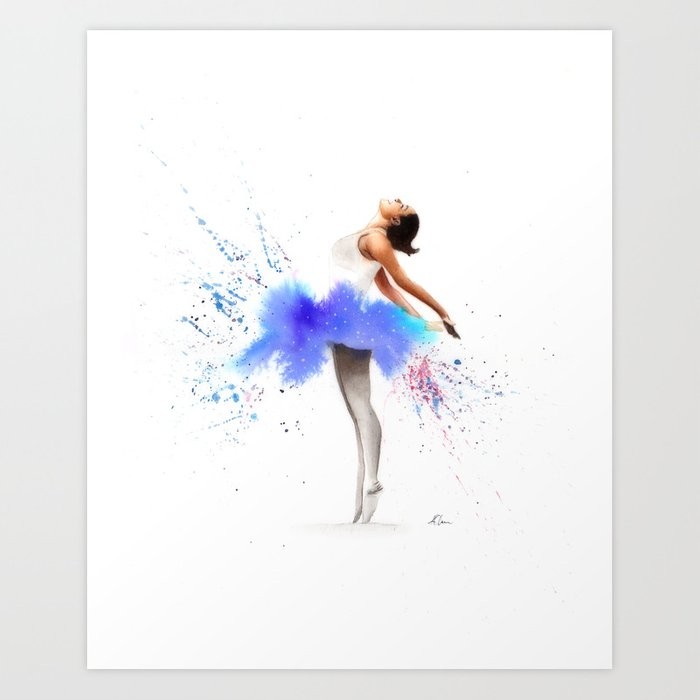 quality design bfefe 2a946 Ballerina in Watercolour Art Print by kieran13