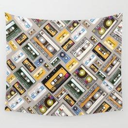 Retro cassette tape pattern 4 Wall Tapestry