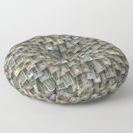 US dollars all over cover Floor Pillow