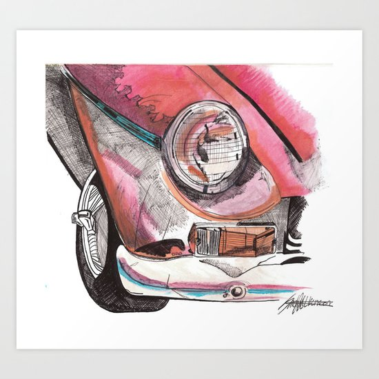Little Red Ride Art Print
