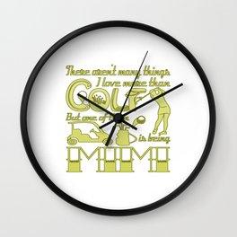 Golf Mimi Wall Clock