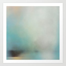 Saltwick Nab - Turquoise white abstract art Art Print