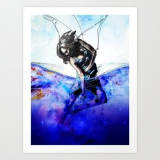 Words in the Water Art Print