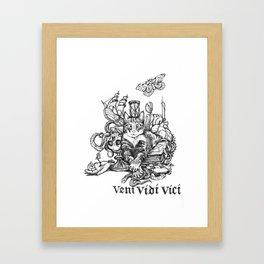 Veni Vidi Vici Framed Art Print
