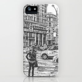 New York Taxis iPhone Case