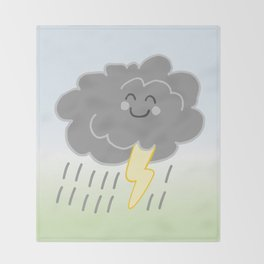 Floof Storm Cloud Throw Blanket