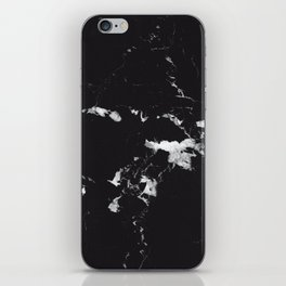 Black Marble #3 #decor #art #society6 iPhone Skin