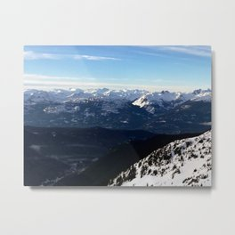 Crispy light air up here Metal Print