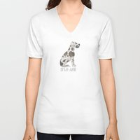 great dane V-neck T-shirts featuring Great Dane by 52 Dogs