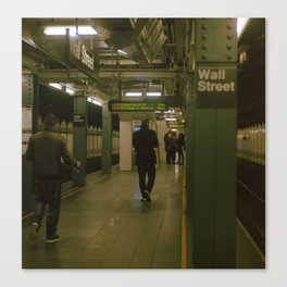 """""""Under Wall Street"""" color film photo Canvas Print"""