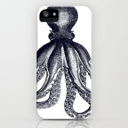 Octopus | Black and White iPhone Case