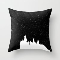 hogwarts Throw Pillows featuring Hogwarts Space by IA Apparel