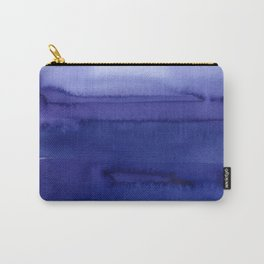 Blue Violet Watercolor Horizontal Stripes Abstract Carry-All Pouch
