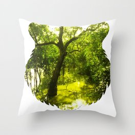 Tiger Forest Head Throw Pillow