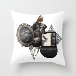 TO MAKE MUCH OF TIME (Totem of the Vulture) Throw Pillow