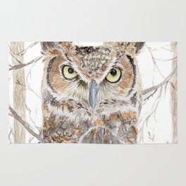 Owl in the Forest Rug