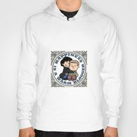 johnlock Hoodies featuring Happiness Is A Warm Blogger by Marlowinc