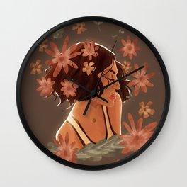 roni + flowers Wall Clock