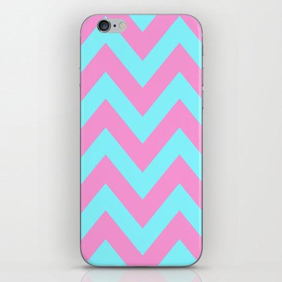 PINK & TEAL CHEVRON  iPhone & iPod Skin