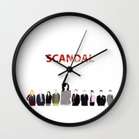scandal Wall Clocks featuring Scandal Minimalism by Bel17