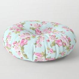 Pink & Mint Green Floral Floor Pillow