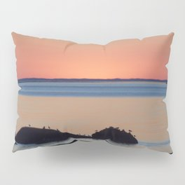 Peaceful Sunset Ship and Sea Pillow Sham