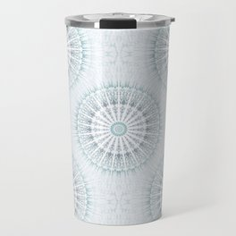 Teal Aqua Mandala Travel Mug
