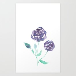 Purple Rose Bush Art Print