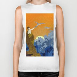 """Wings of Victory"" Art Deco Design Biker Tank"