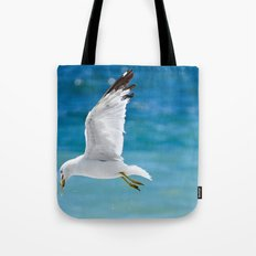 Gull with Fish Tote Bag