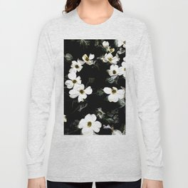 Cascading Dogwood Blossoms Long Sleeve T-shirt
