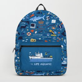 Life Aquatic Plot Pattern Backpack