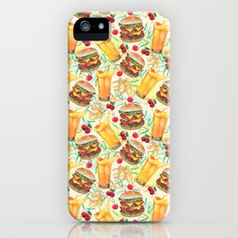 burgers, juices & fries iPhone Case