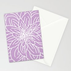 Abstract Flower Purple Lavender Stationery Cards