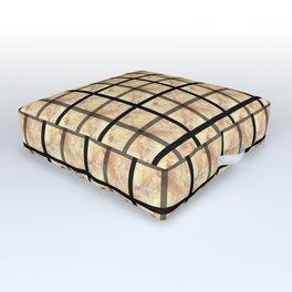 WINDOWPANE PATTERN Outdoor Floor Cushion